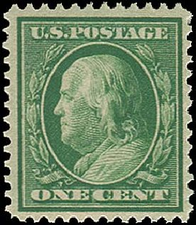 price-of-us-stamps-scott-357-1909-1-cent-franklin-bluish-paper-regency-112-739.jpg