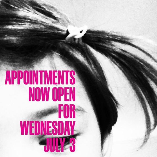 JULY 3rd!  ONLINE BOOKING OPEN NOW!! #thenerrivikstudio