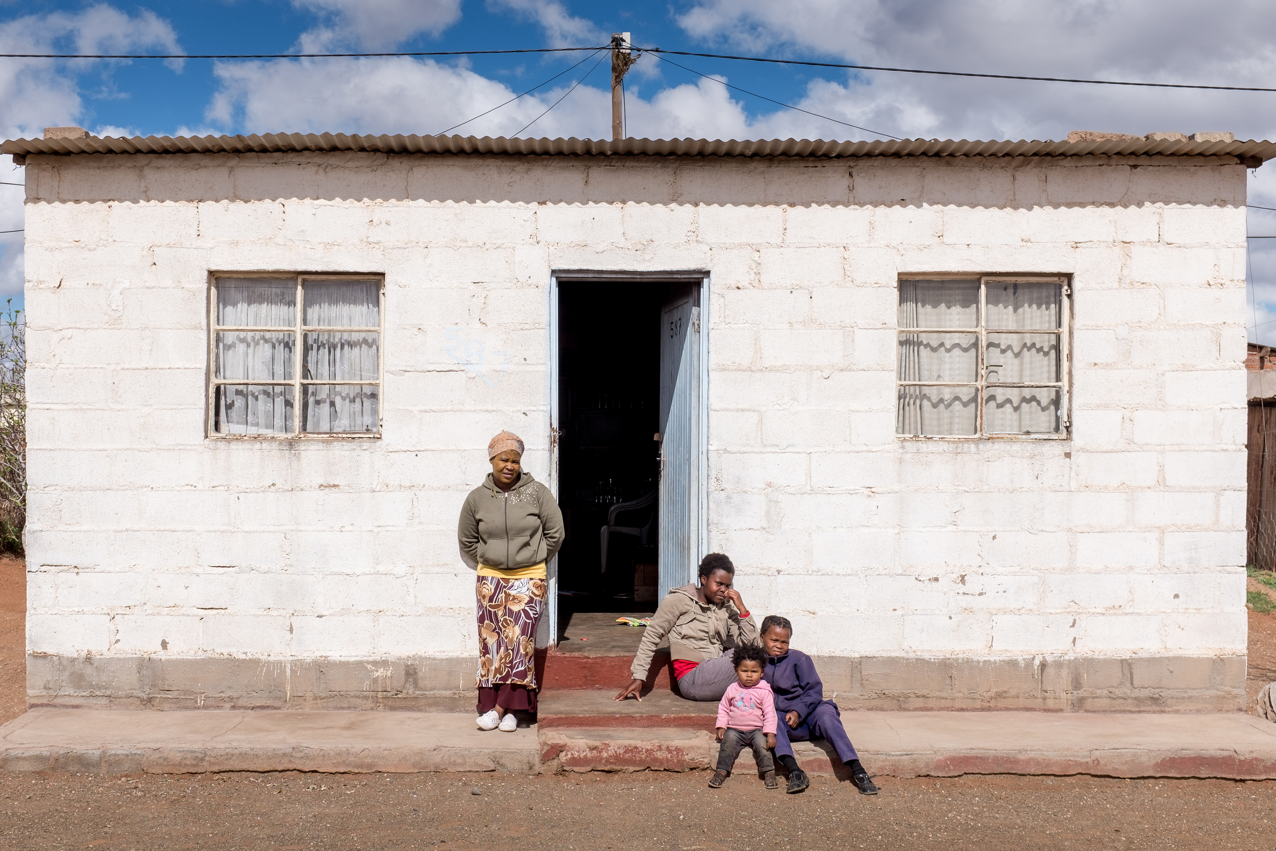 The home that Zimoshile Bozo lives with his sister and her children