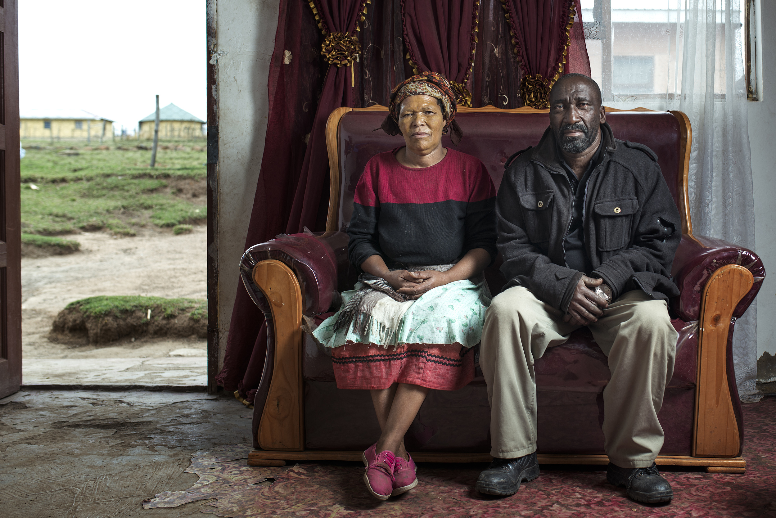 Zolisa Jejana and his wife at home in Cofimvaba.
