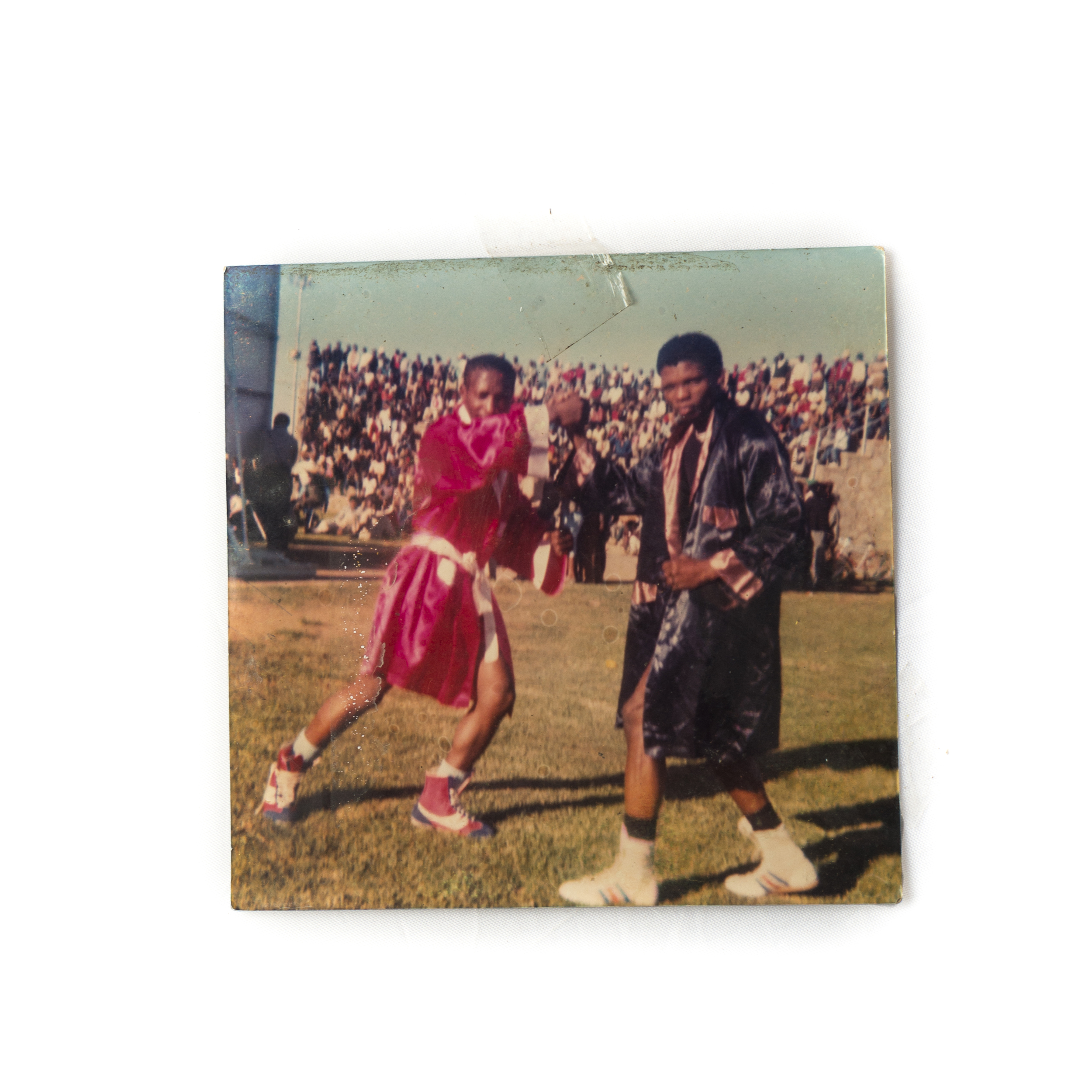 """Zwelengaba """"Fix""""Mgidi (Right) in his days as a competitive boxer."""