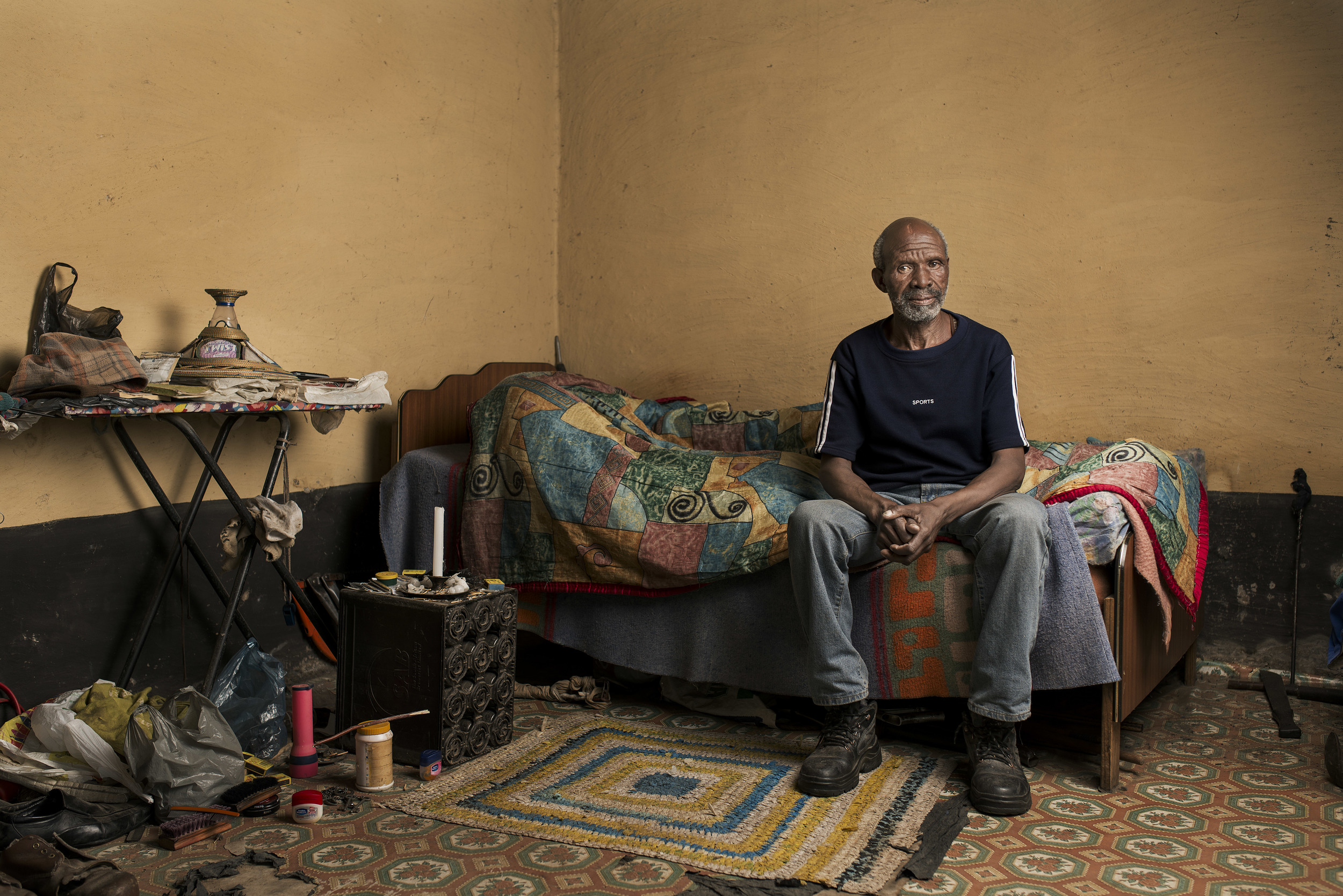 Thembekile Mnaheni at home in the Eastern Cape