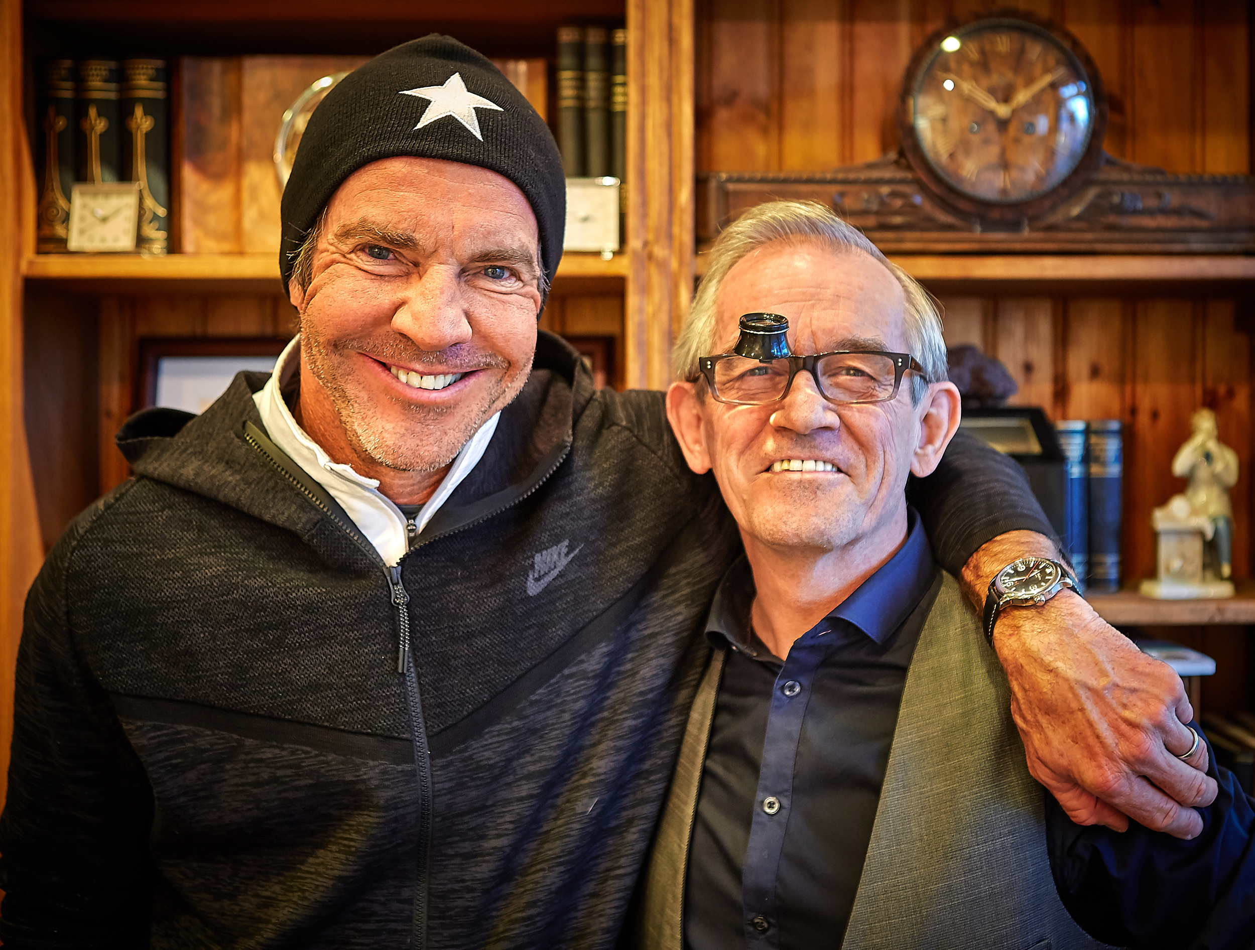 Dennis Quaid and Gilbert Watchmaker.