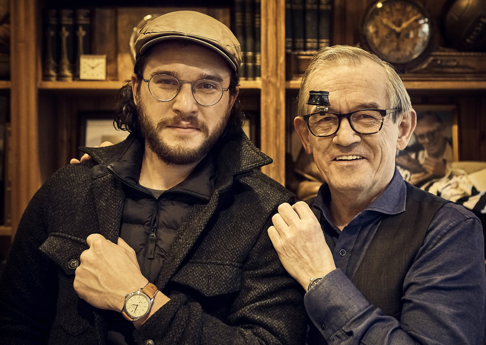 English actor and producer Kit Harington recently visited our workshop in downtown Reykjavik and met with our Master Watchmaker Gilbert O. Gudjonsson.