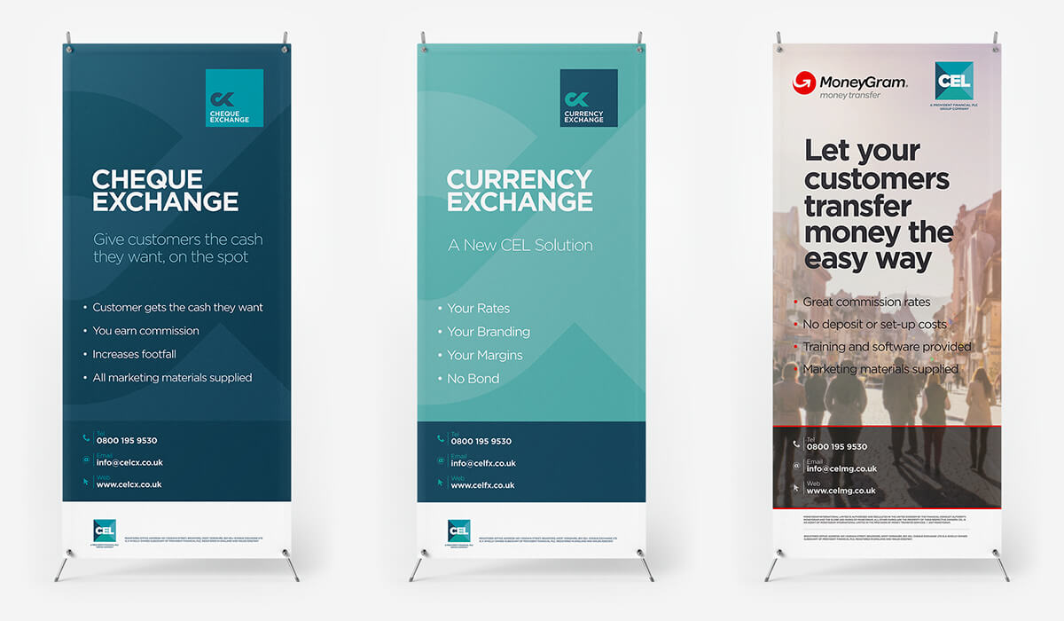 CEL - Exhibition banners