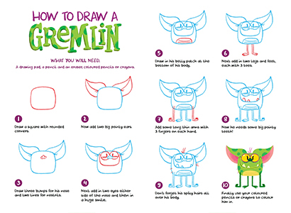 Supermarket Gremlins - How to draw a gremlin