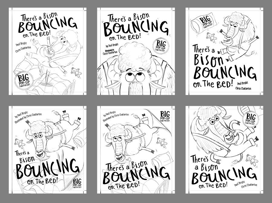 Bison Bouncing on the Bed cover designs