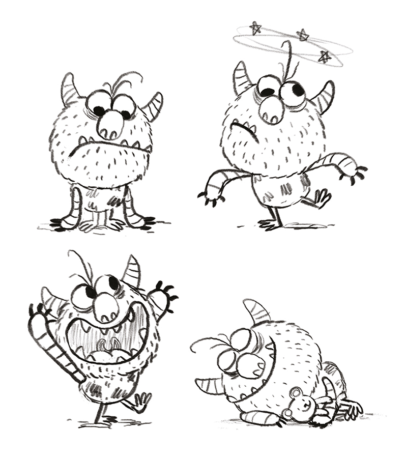 Monster sketches by Chris Chatterton