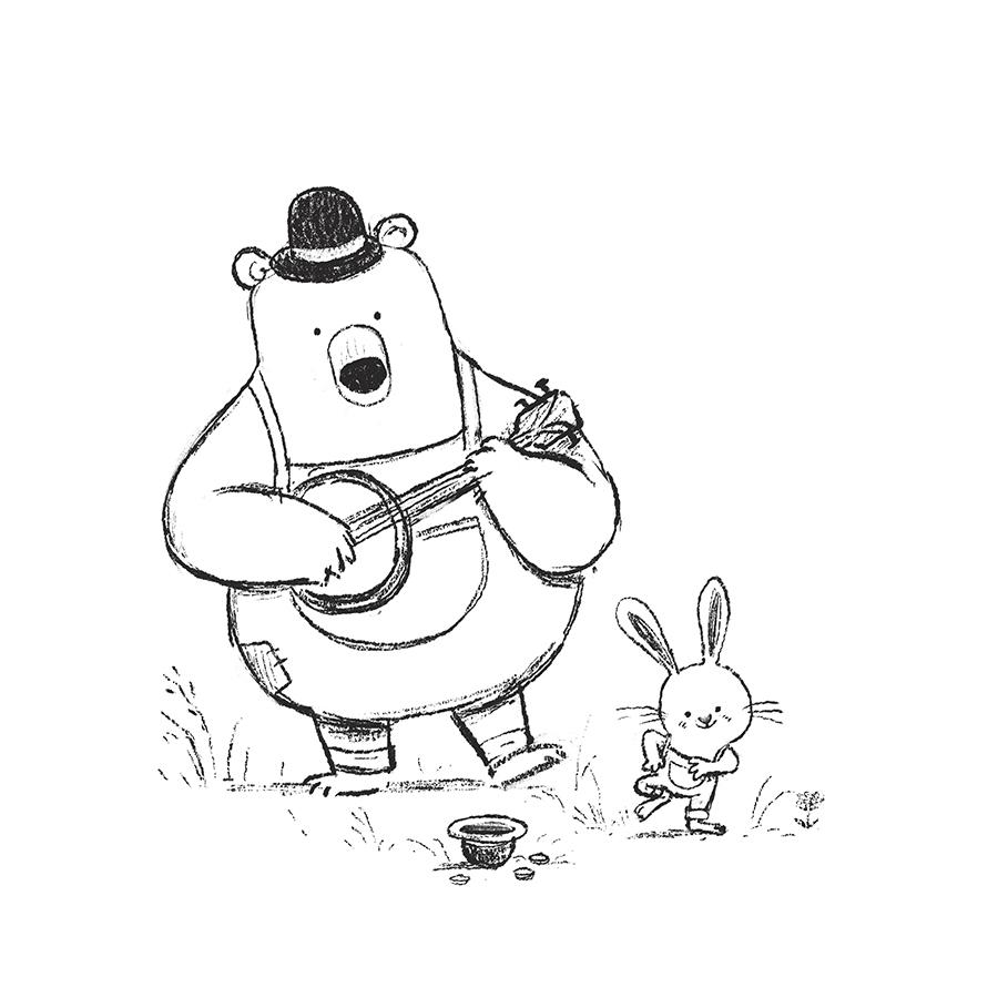 Bear & Banjo illustration by Chris Chatterton