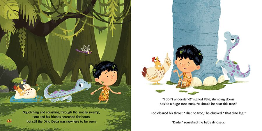 Pete's Magic Pants: The Lost Dinosaur illustrated by Chris Chatterton