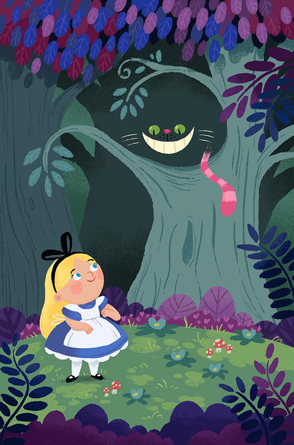 Alice in Wonderland illustration by Chris Chatterton