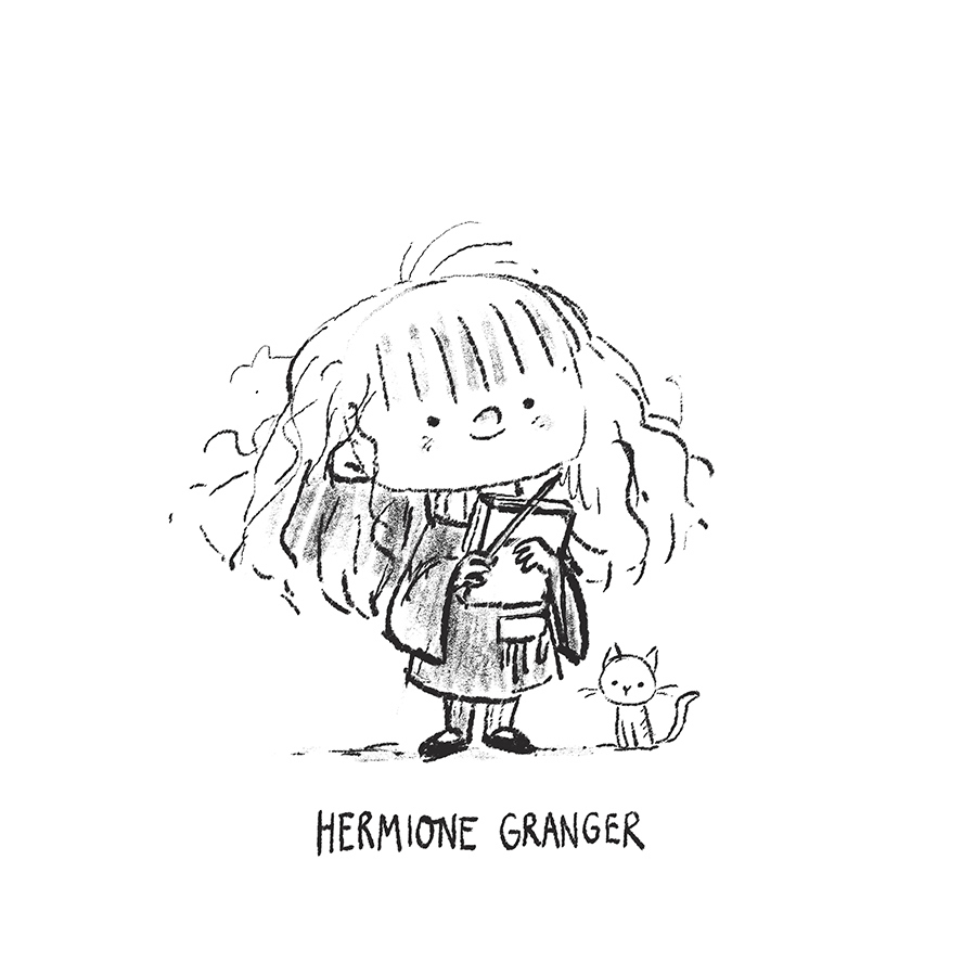 Hermione Granger sketch by Chris Chatterton
