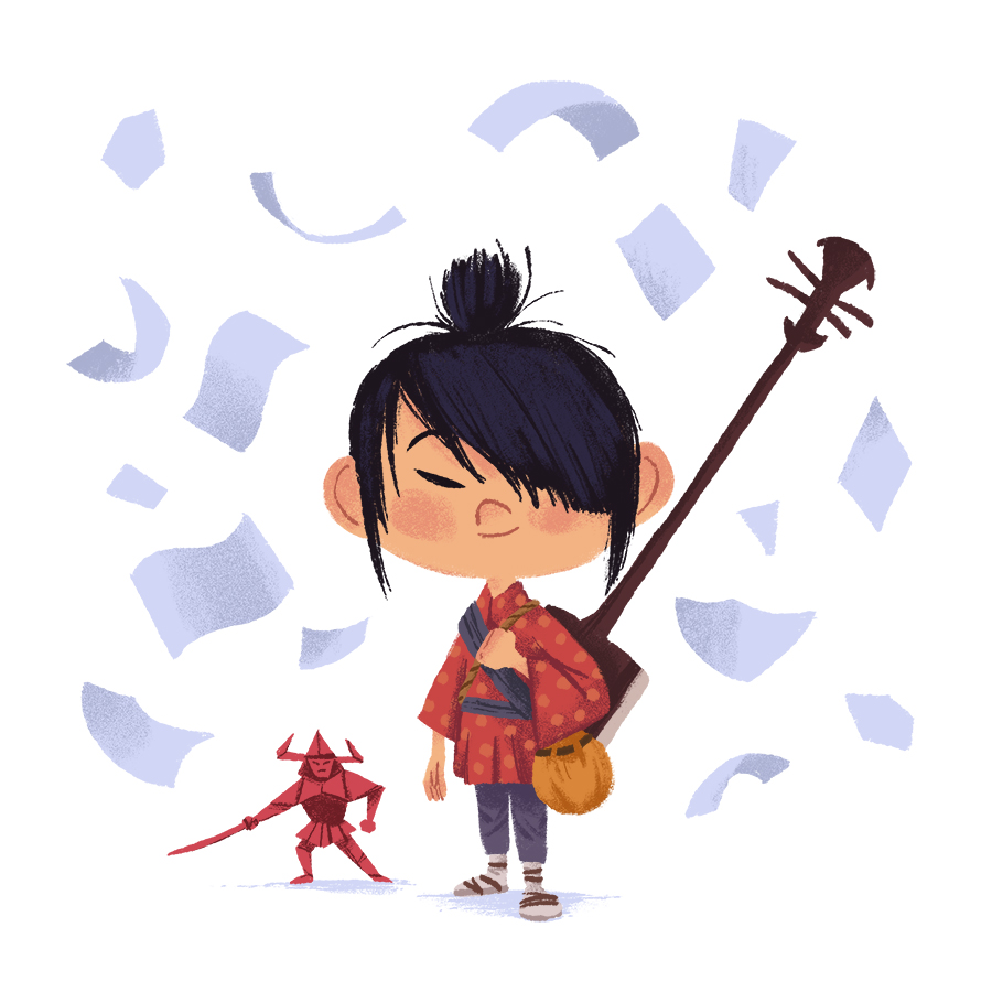 Kubo and the Two Strings illustration by Chris Chatterton