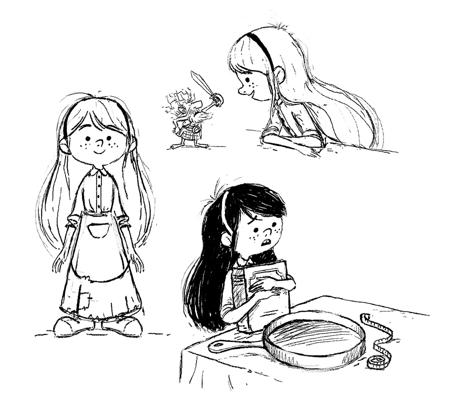 Tiffany Aching Sketches