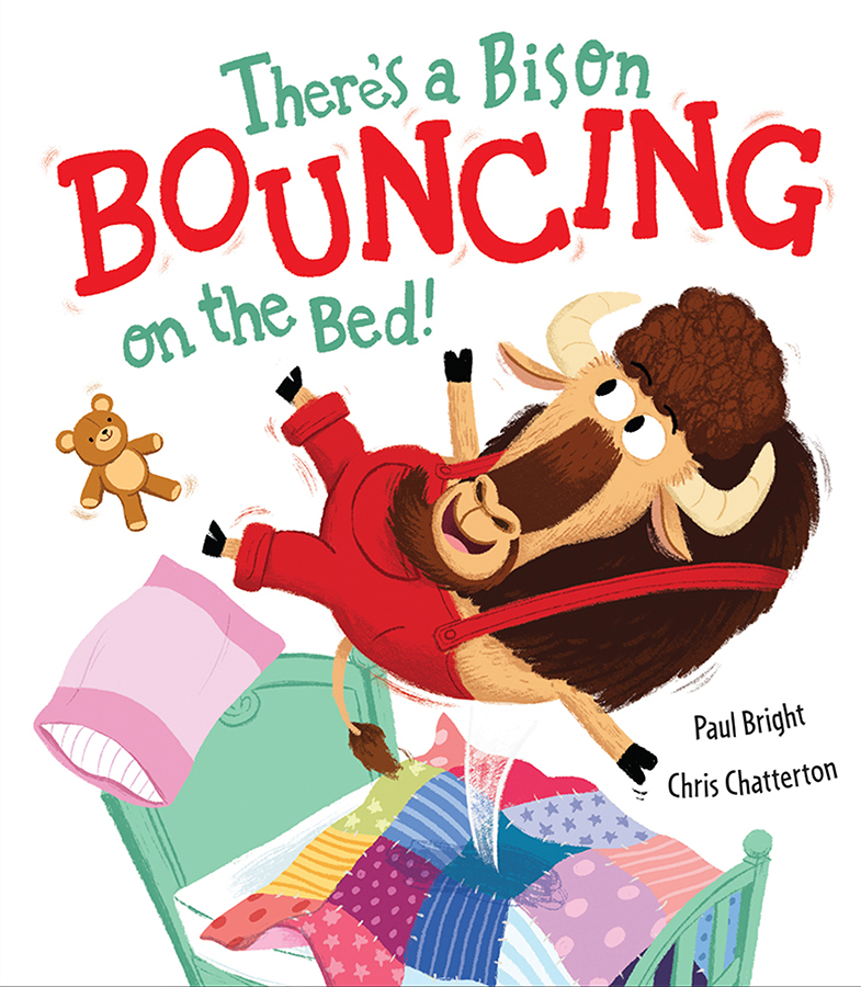 There's a Bison Bouncing on the Bed! cover illustrated by Chris Chatterton