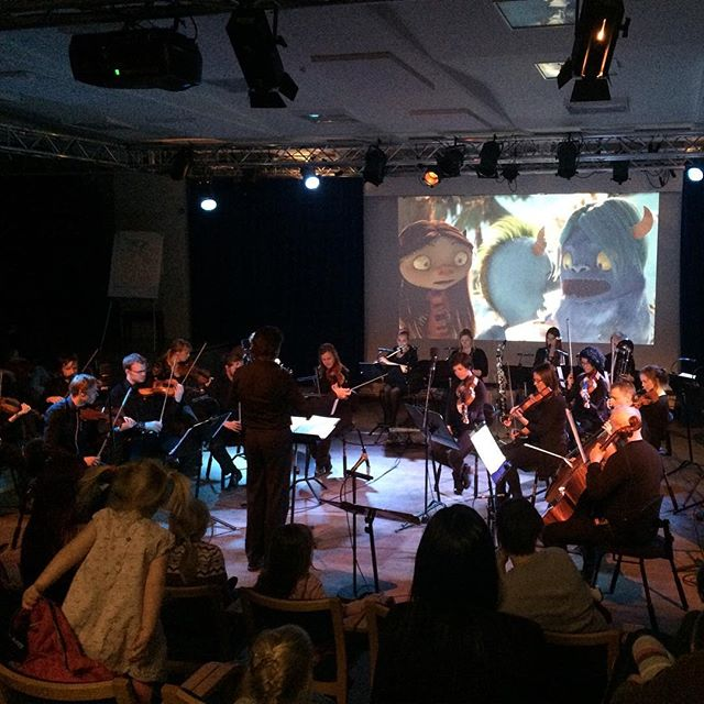 Fantastic day. #arcticphilharmonic played live to the screening of our #shortfilm #dunder #animation #tromsø #fabelfjord