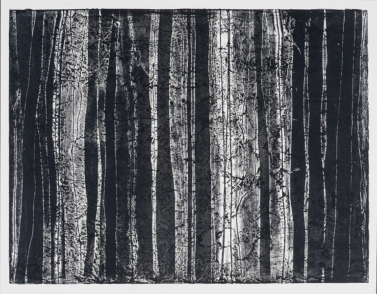 """Layers discovered in West Paris 30""""x22"""" relief print edition"""