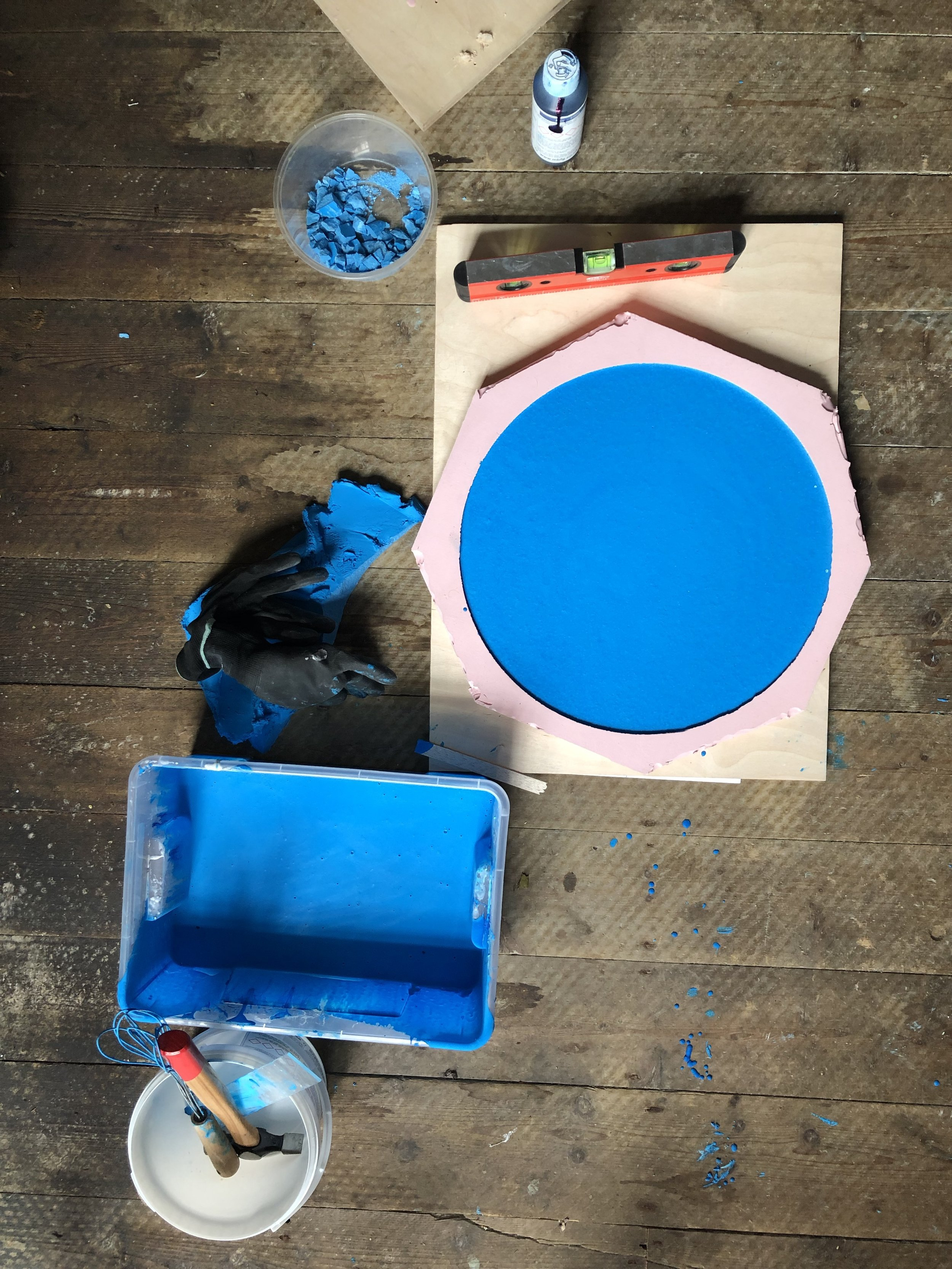 Stool / Side Table   Pigmented Jesmonite & Ash 2x2