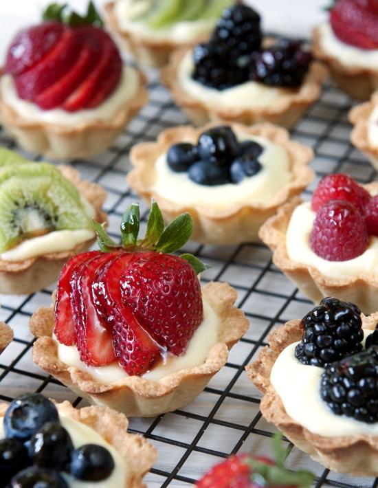 Tartaletky s ovocím