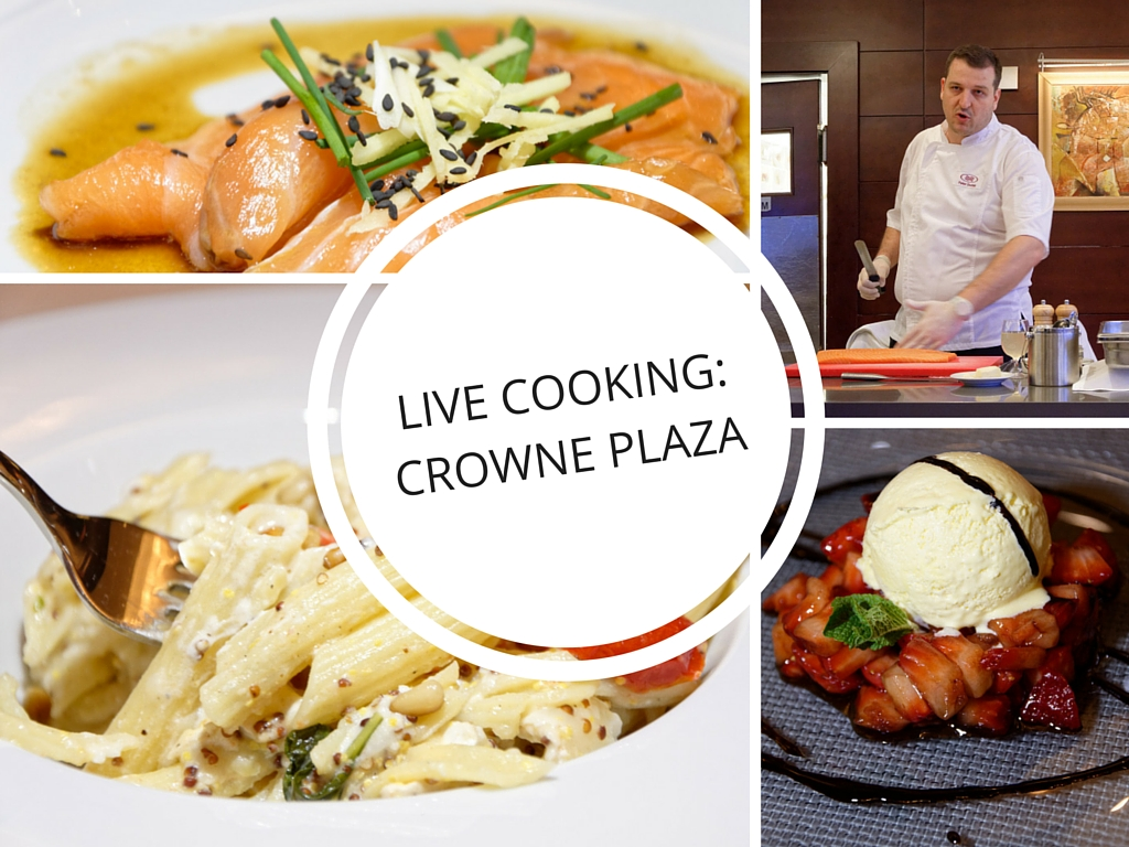 live cooking crowne plaza restauracia fresh