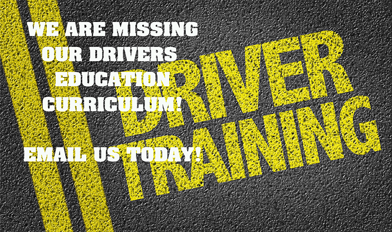 WHO HAS THE SCHOOL OFFICE SETS OF DRIVERS ED CURRICULUM? Email  Debbie Landry  as soon as possible!