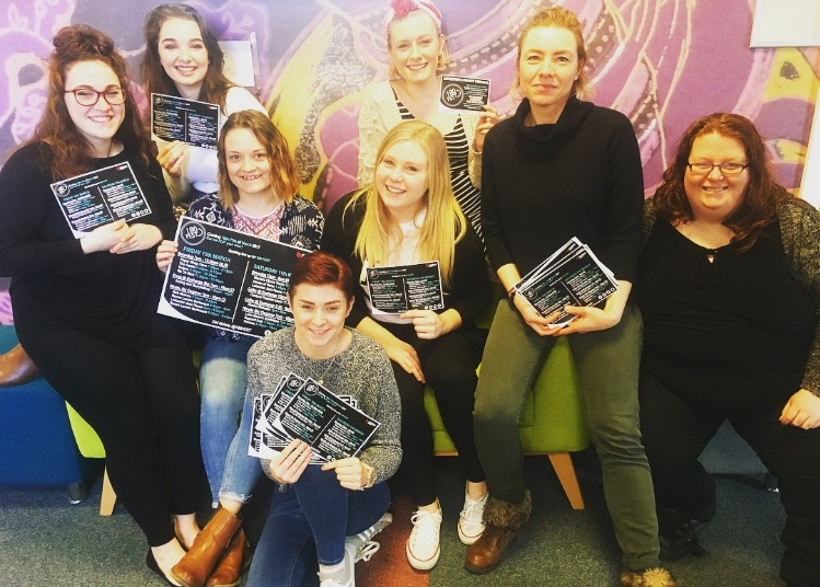From left to right:  Siân Wilshaw,Catherine Griffiths,Tiffini Castle,Jodie Giblin,Charlotte Fournee,Hannah Storm ,Andzelika Dojlida,Cam Boyle