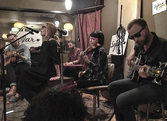 Thank you for having us, Sofar. We loved playing for you and hearing our friend @mynamesjacobi, @televangelistmusic and seeing the faces of dear friends in Denton. This photo was lifted from @claytonsmith82 #sofar #sofardfw