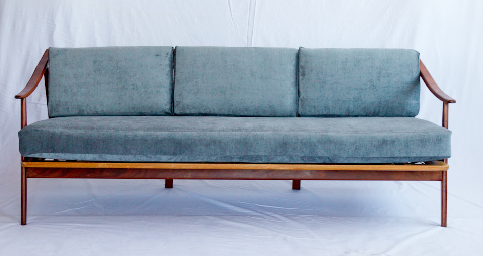 Mid Century Modern Blue Velvet Sofa.png