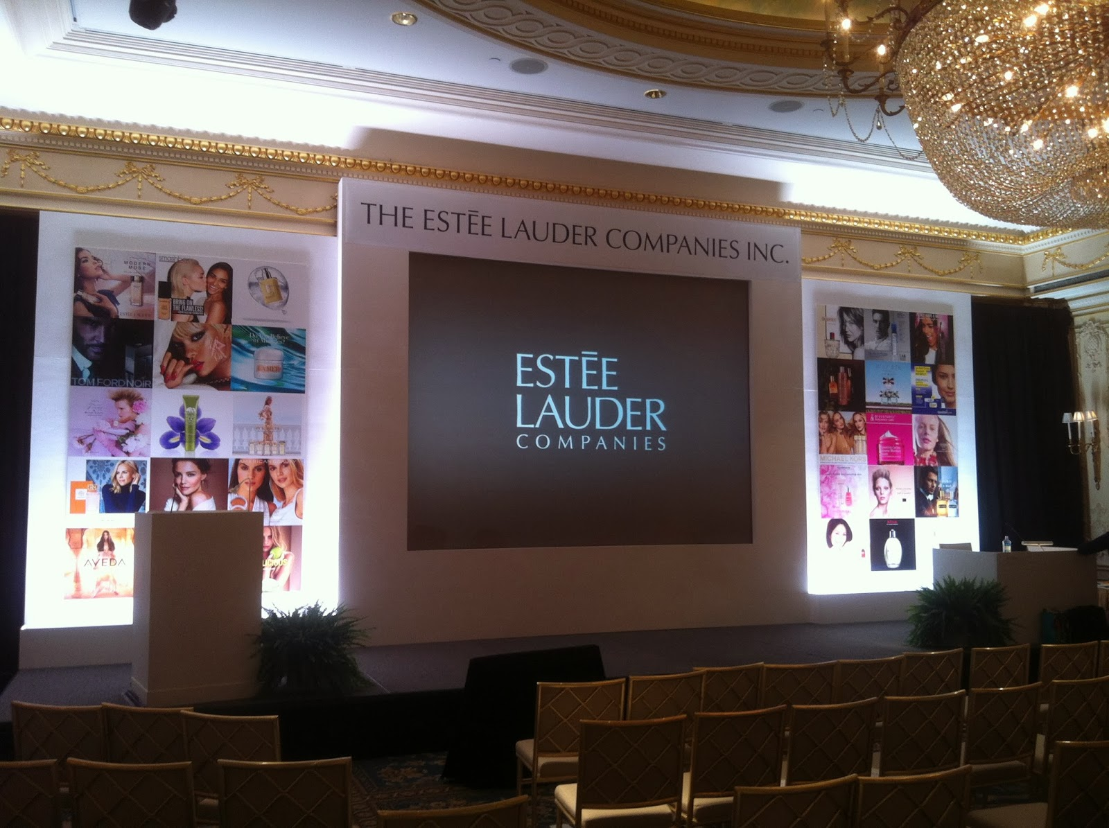 Event decor and installation for Estee Lauder.