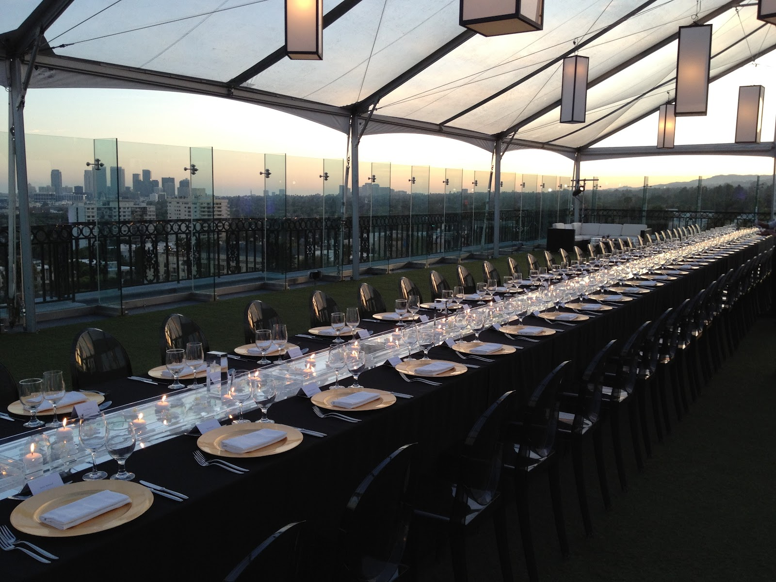 Event design and decor for Aramis Designer Frangrances at the London Hotel, Los Angeles.