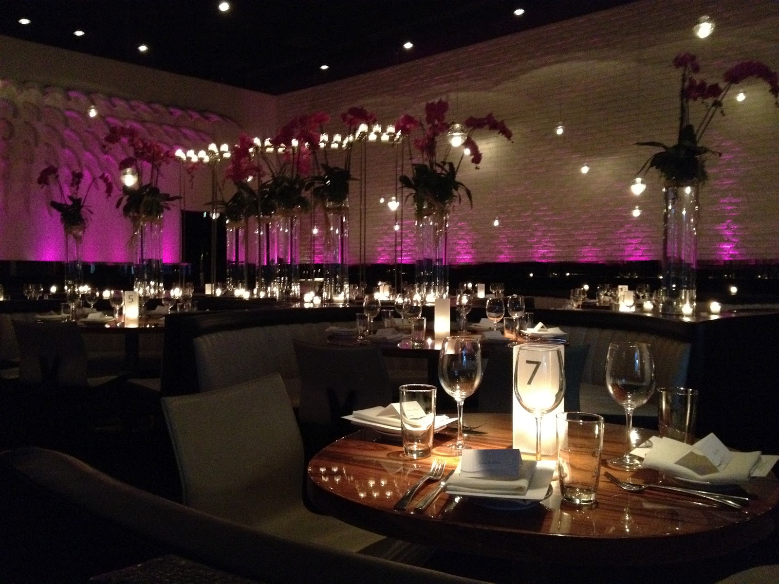Event decor for Aramis Designer Fragrance private dinner.