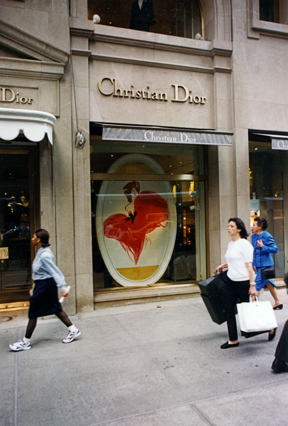 Christian Dior: decorative painting and window installation.