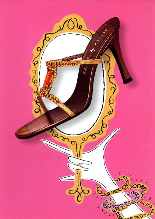 Lane Crawford: Catalog design and illustration.