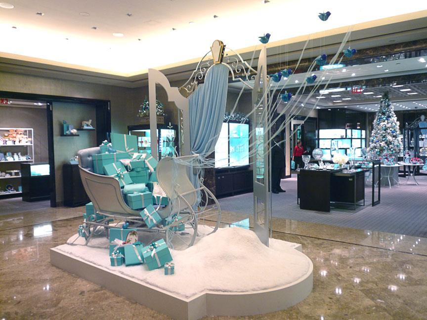 Sleigh display produced and installed for Tiffany & Co.