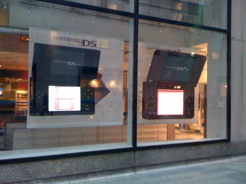 Giant Nintendo DS model produced for Sony.