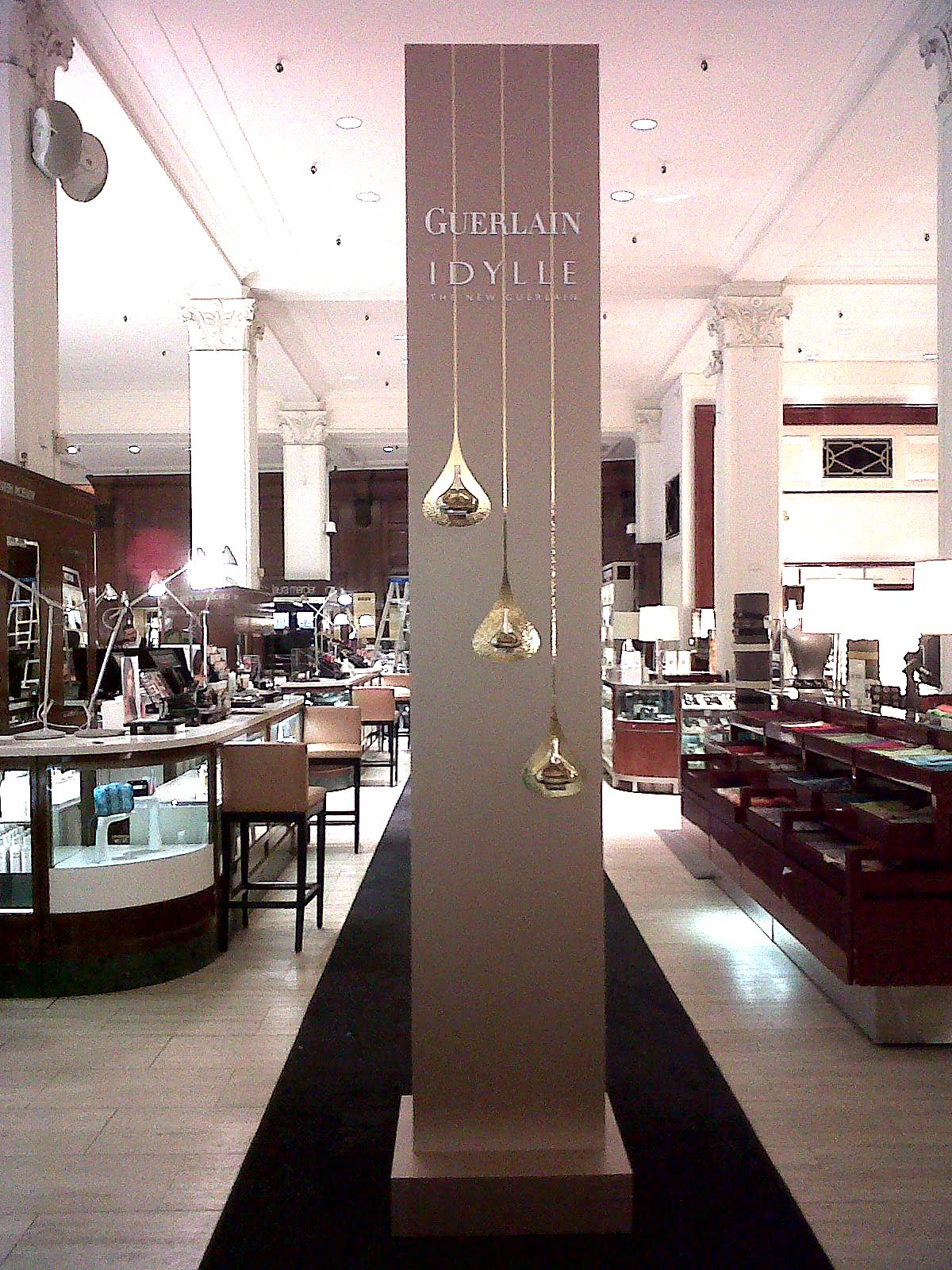 Guerlain beauty tower produced for Saks 5th Avenue.