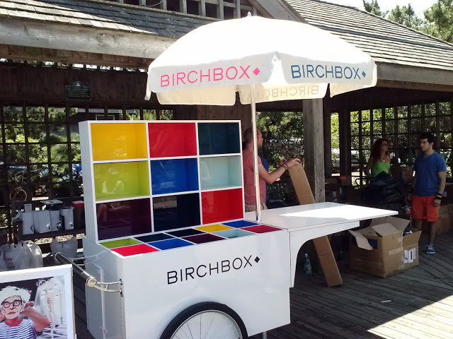 Custom pushcart produced for Birch Box.