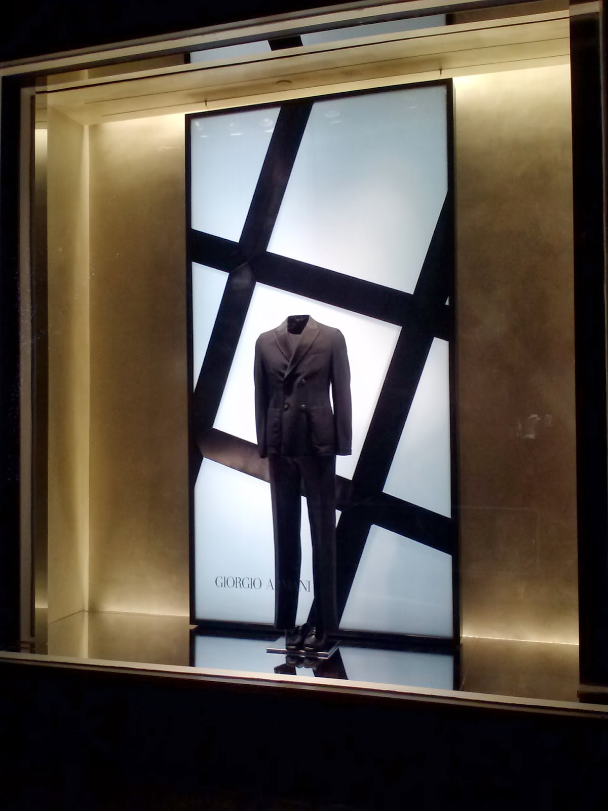 lightbox window backdrops produced and installed for Armani 5th Avenue.
