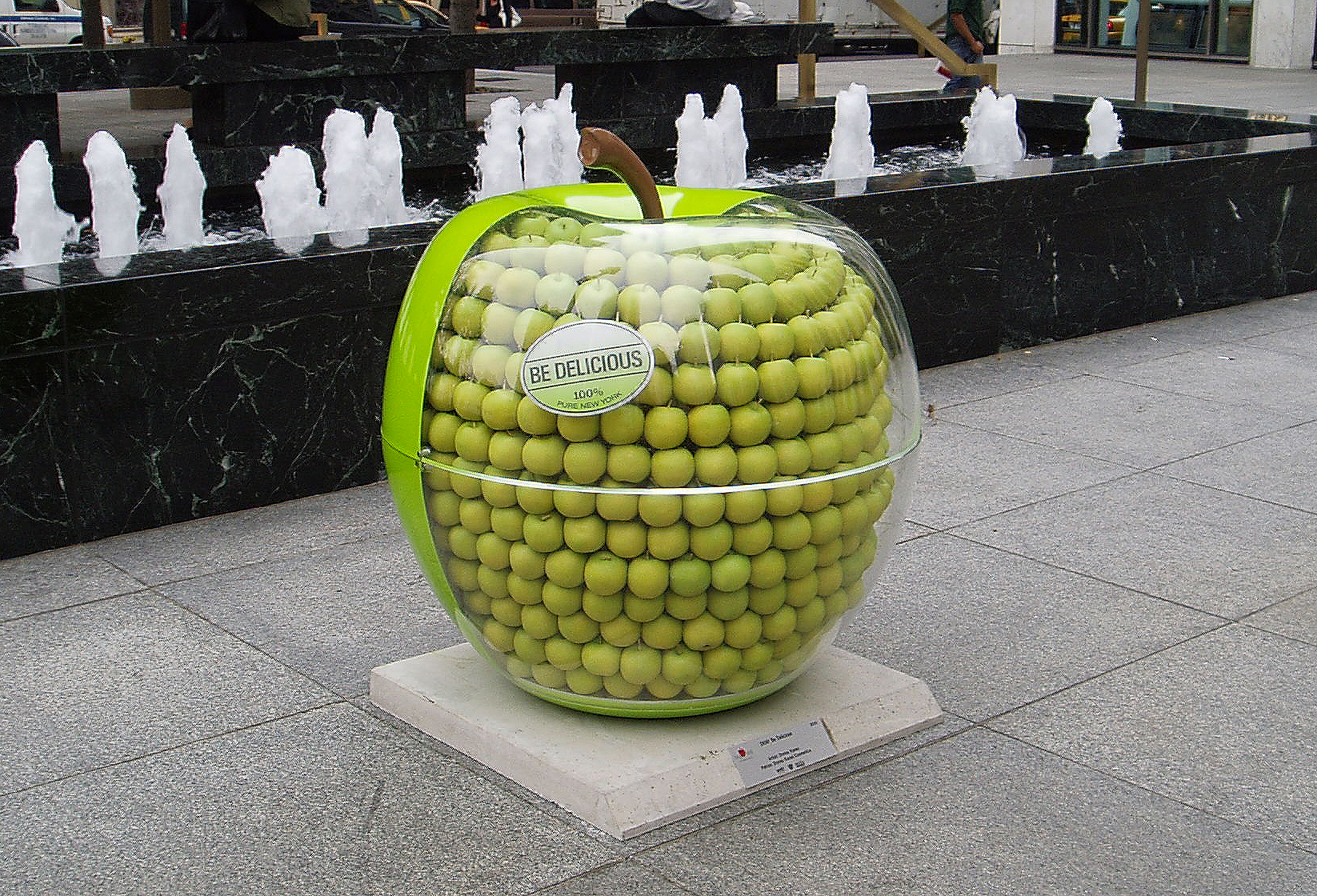 "Custom giant apple produced for DKNY  ""Be Delicious"" fragrance launch."