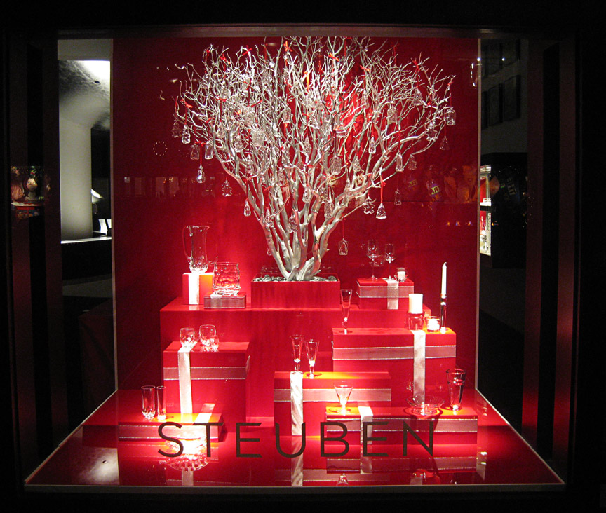 Window display designed and produced for Steuben.