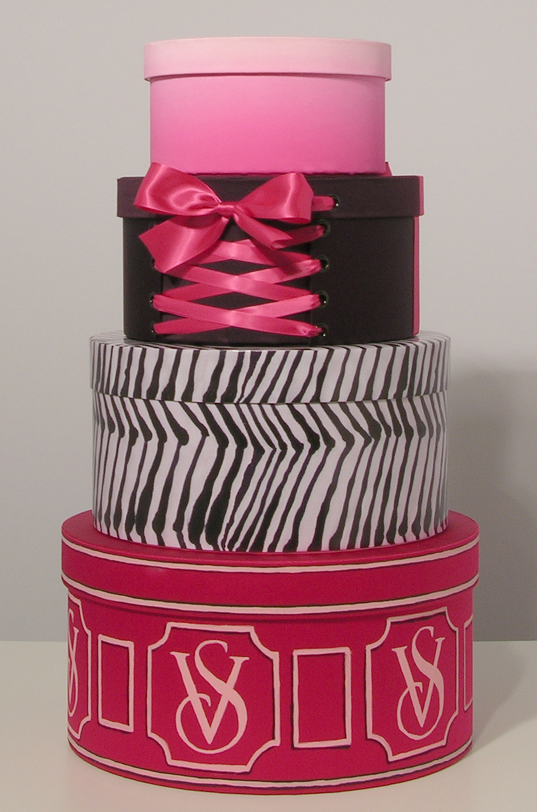 Hat boxes produced for Victoria's Secret stores worldwide.
