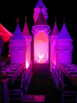 Large scale custom event design, decor and installation for a 'Las Vegas' themed private Bar Mitzvah at the Roseland Ballroom, NYC.