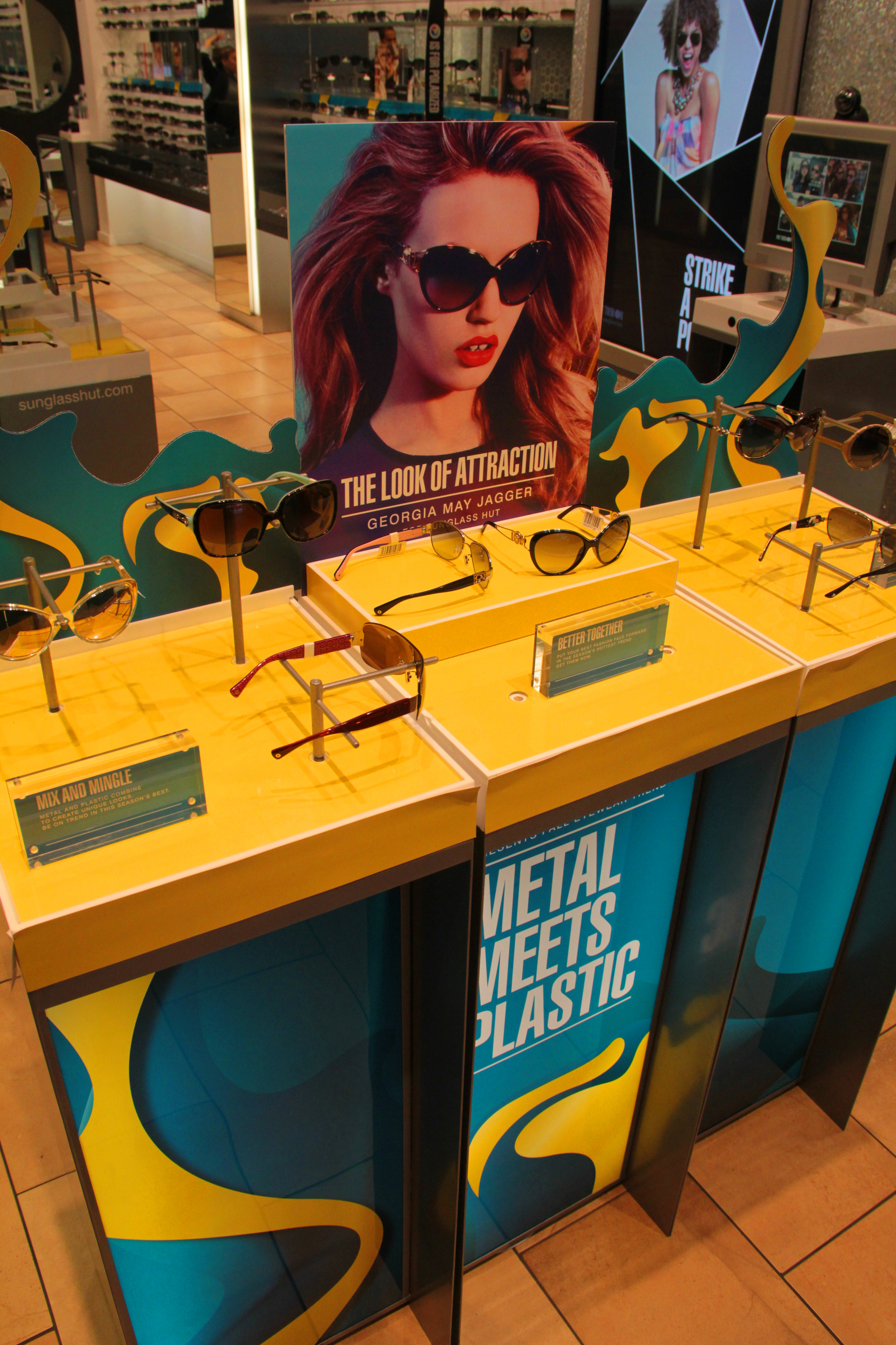 Store displays produced for Sunglass Hut.