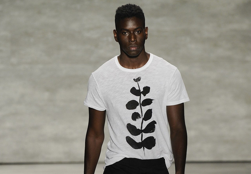 Painting T-shirt Production  Seen at NYFW SS'15  Todd Snyder