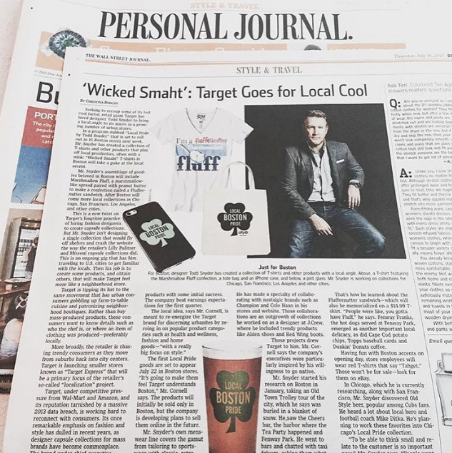 Research Graphics Production  Wall Street Journal  Target Local Pride