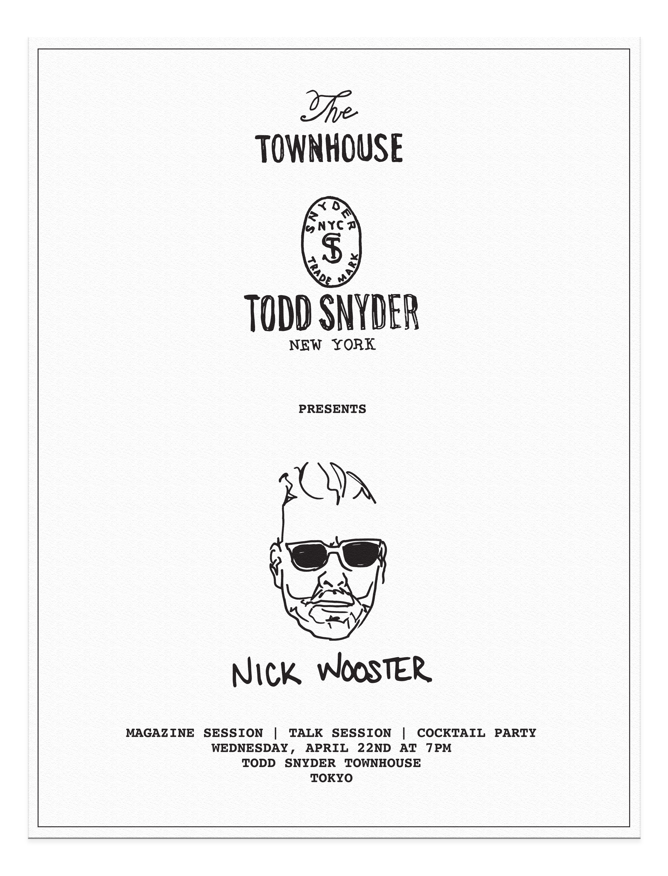 Drawing Graphic Design   Todd Snyder x Nick Wooster