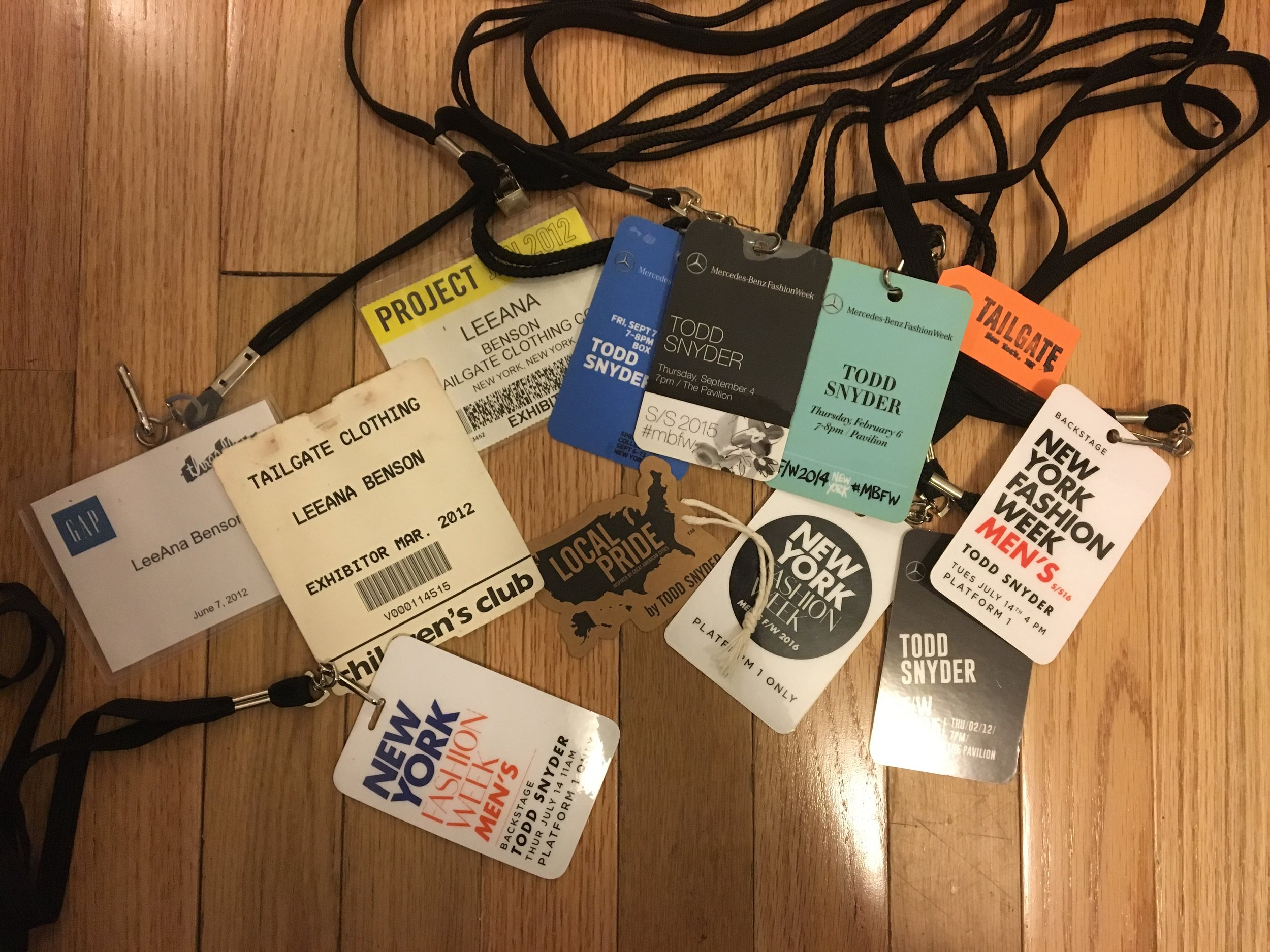 Shows & meetings I assisted in organizing    Todd Snyder  Tailgate