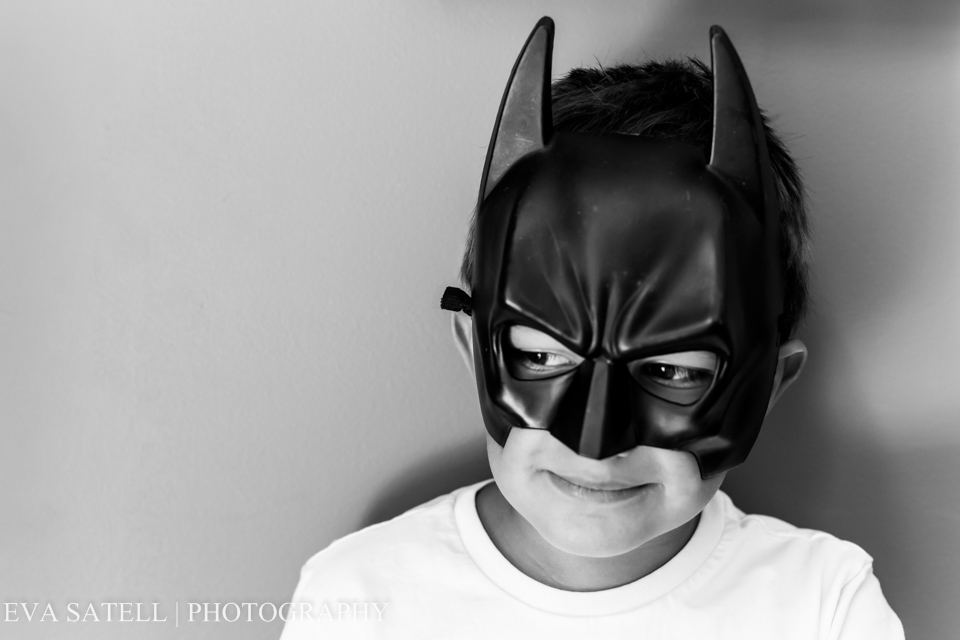 He decides to play Batman and cooperates with a mini session. I catch him making some serious and goofy faces.