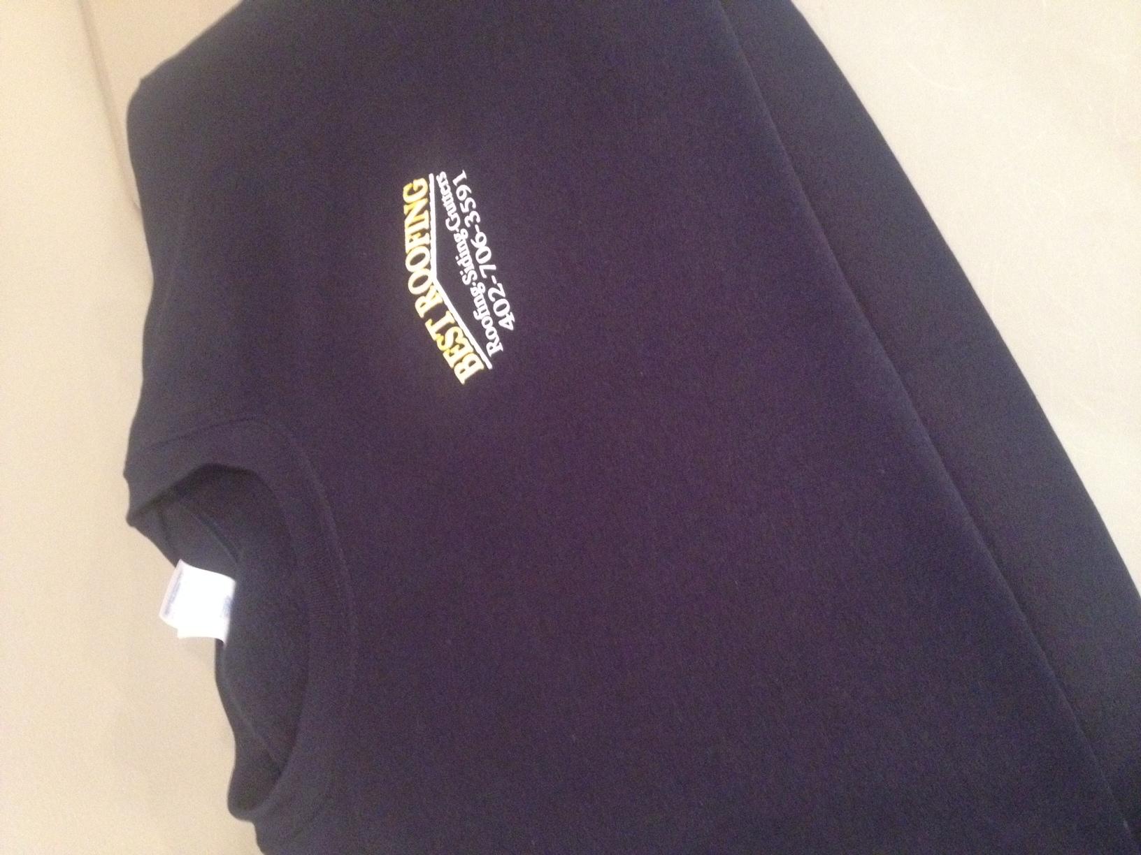 Crewneck sweatshirts for Best Roofing