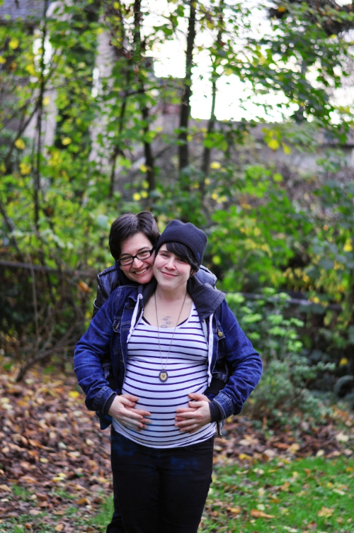 Look we're in love, and pregnant, and it is fall.